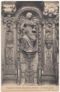 France, La Cathedrale de ROUEN, Fragment du Tombeau des Cardinaux d'Amboise,