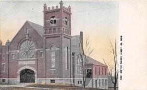 C85/ Albert Lea Minnesota Mn Postcard c1910 First Baptist Church