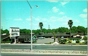 Sacramento, California Postcard SAHARA Motel 1724 W. Capitol Ave. Roadside 1960s