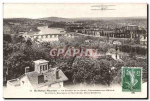 Old Postcard Bellevue Meudon The Loop Panorama seine on Sevres Jet Airplane