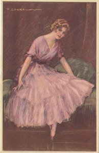 Woman portrait , 1900-10s ; #35A ; Artist T Corbella