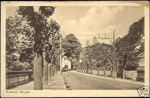 norway norge, BERGEN, Kalfaret, Tramway (1920s)
