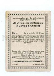 167010 Olympic Winter Games CORTINA d'Ampezzo CIGARETTE card
