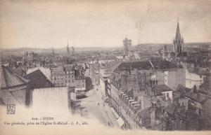 DIJON, Vue generale, prise de l'Eglise St. Michel, Cote d'Or, France, 00-10s