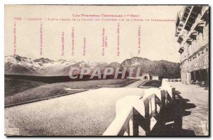 Old Postcard The Central Pyrenees Luchon Right part of the Chaine des Pyrenees