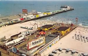 Atlantic City NJ~Amusement Pier~Dodgem Cars~Carousel~Octopus~Kiddie Cars~1966 PC