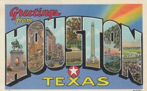 [SOLD] Large Letter HOUSTON , Texas, 1945