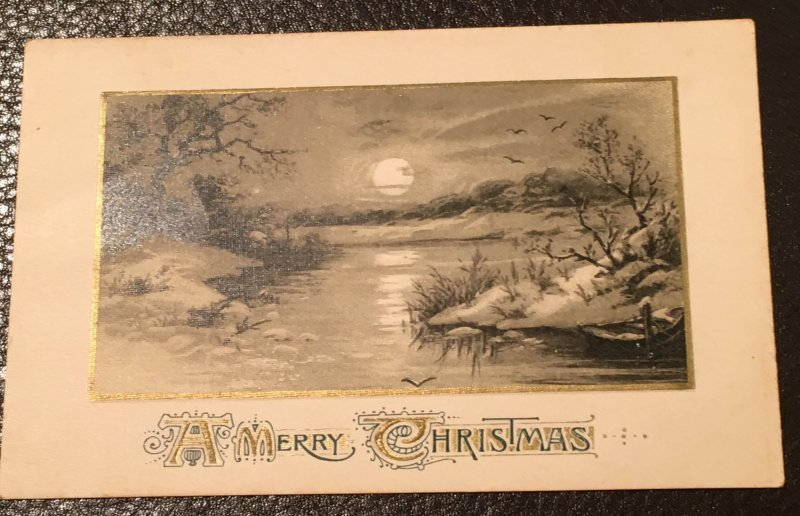 "A Merry Christmas"" embossed greeting card - 1900's"