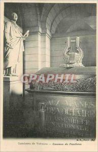 Postcard Old Table Voltaire cellars of Paris Pantheon