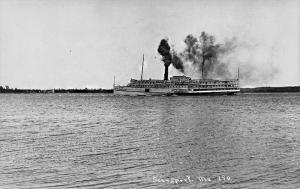 Southport ME Steamship City of Rockland Real Photo Postcard