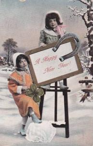 A Happy New Year, Horse shoe and shamrock, PU-1908