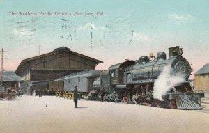 SAN JOSE , California, 1909 , Train at Southern Pacific Railroad Depot