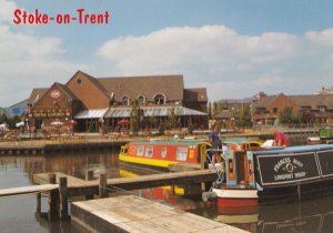 Stoke On Trent China Garden Toby Waterside Canal Pub Postcard
