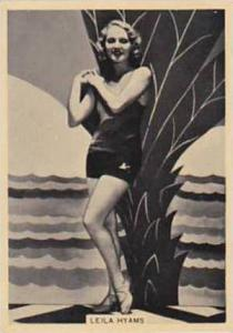B A T Vintage Cigarette Card Grace & Beauty No 23 Leila Hyams  1938
