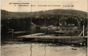 CPA Les Vosges Ill...GÉRARDMER - Le Lac - Embarcadére de la Promenade (455635)