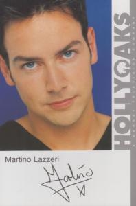 Martino Lazzeri Hollyoaks Vintage Official Rare Cast Card Photo