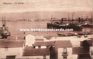 italy, MESSINA, Sicily, Il Porto, Harbour with Steamers (1910s)