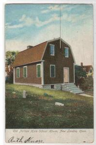 Nathan Hale School House New London CT 1908 postcard