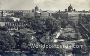 Volksgarten Museen Wien, Vienna Austria 1952