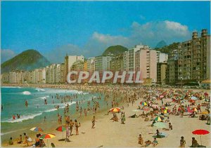 Postcard Modern Brasil Turistico Copacabana Beach