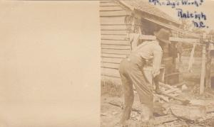 PMC RP: The Day´s Work Black Man Chopping Wood, Raleigh, NC,1898-1901