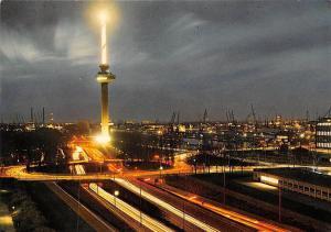 Holland Rotterdam Avondopname van de Euromast Tower Turm