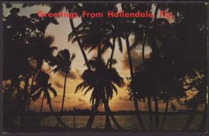 Greetings From Hallendale,FL Postcard BIN