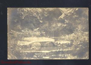 RPPC SILOAM SPRINGS ARKANSAS DRIPPING SPRING VINTAGE OLD REAL PHOTO POSTCARD