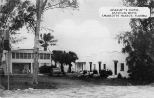 Charlotte Harbor Florida Charlotte Motel Bayshore Drive vintage pc DD5149