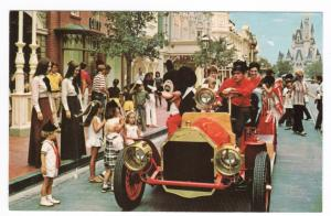 Mickey Mouse Auto Car Main Street USA Disney World Florida postcard
