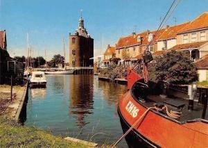 Netherlands Groeten uit Enkhuizen, Harbour Boats Bateaux Schiff, Drommedaris