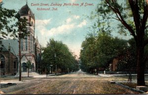 Indiana Richmond Tenth Street Looking North From A Street 1908