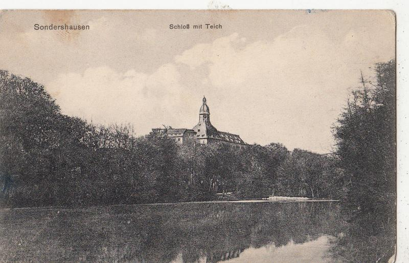 BF17571 sondershausen schloss mit teich  germany  front/back image