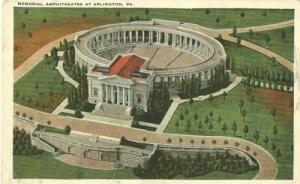 Memorial Amphitheatre at Arlington, VA, 1920s unused Post...