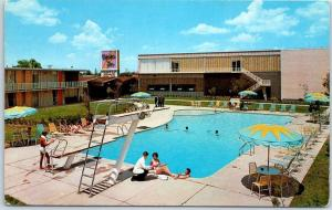 Dallas, Texas Postcard EXECUTIVE INN Motel Pool Scene Roadside c1960s Unused