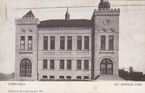 QU'APPELLE , Sask., Canada, 00-10s ; Town Hall