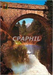 Postcard Modern High Pyrenees Cauterets Bridge of Spain
