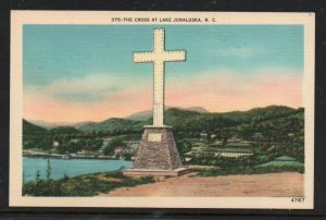 North Carolina colour pc Cross at Lake Junaluska, N.C unused
