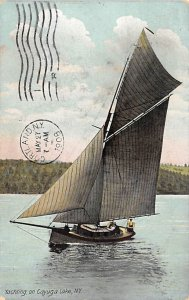 Yachting on Cayuga Lake New York, USA R.P.O., Rail Post Offices PU 1908