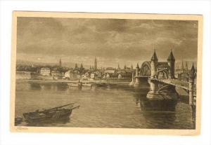 Boat, Bridge, Bonn (North Rhine-Westphalia), Germany, 1900-1910s