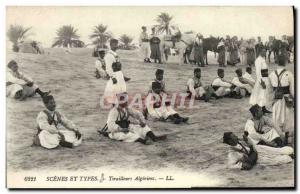 Old Postcard Scenes And Types Riflemen Algeriens Army