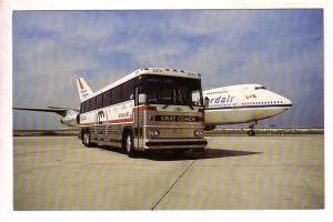 Gray Coah Bus,  Wardair Plane at Pearson International Airport