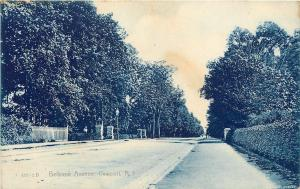 Newport Rhode Island~Bellevue Avenue~Residential Neighborhood~1906 Postcard