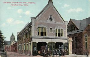 Steubenville Ohio Reliance Fire House Vintage Postcard JD228154