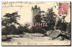 Old Postcard Samois-sur-Seine La Tour L & # 39Observatoire