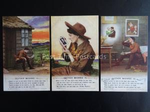 MOTHER MACHREE - WW1 Bamforth Song Cards set of 3 No.4990