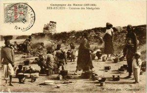 CPA AK BER-RECHID Cuisines des Senegalais MAROC (825440)