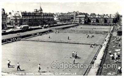 Cliftonville, St. Georges Lawn Bowling Greens, Postcard Postcards  Cliftonville