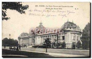 Postcard Old Paris Petit Palais Champs Elysees Musee des Beaux Arts