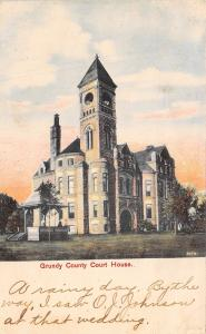 Grundy Center IA County Courthouse @ Sundown~Belltower w/Round Openings 1909